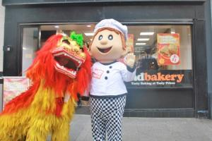 LAUNCH: The Poundbakery invited a fiery special guest to launch their new range