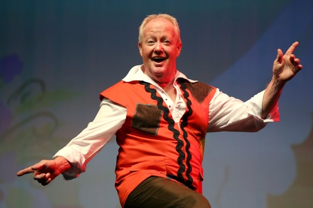 PANTO: Keith Chegwin in last year's Christmas panto at the Macron Stadium