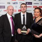 The Bolton News: PROUD: Ashley Haslam with parents