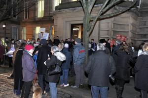 LIVE: Bolton Council protest and budget meeting