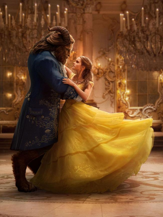 Dan Stevens and Emma Watson in Beauty and the Beast