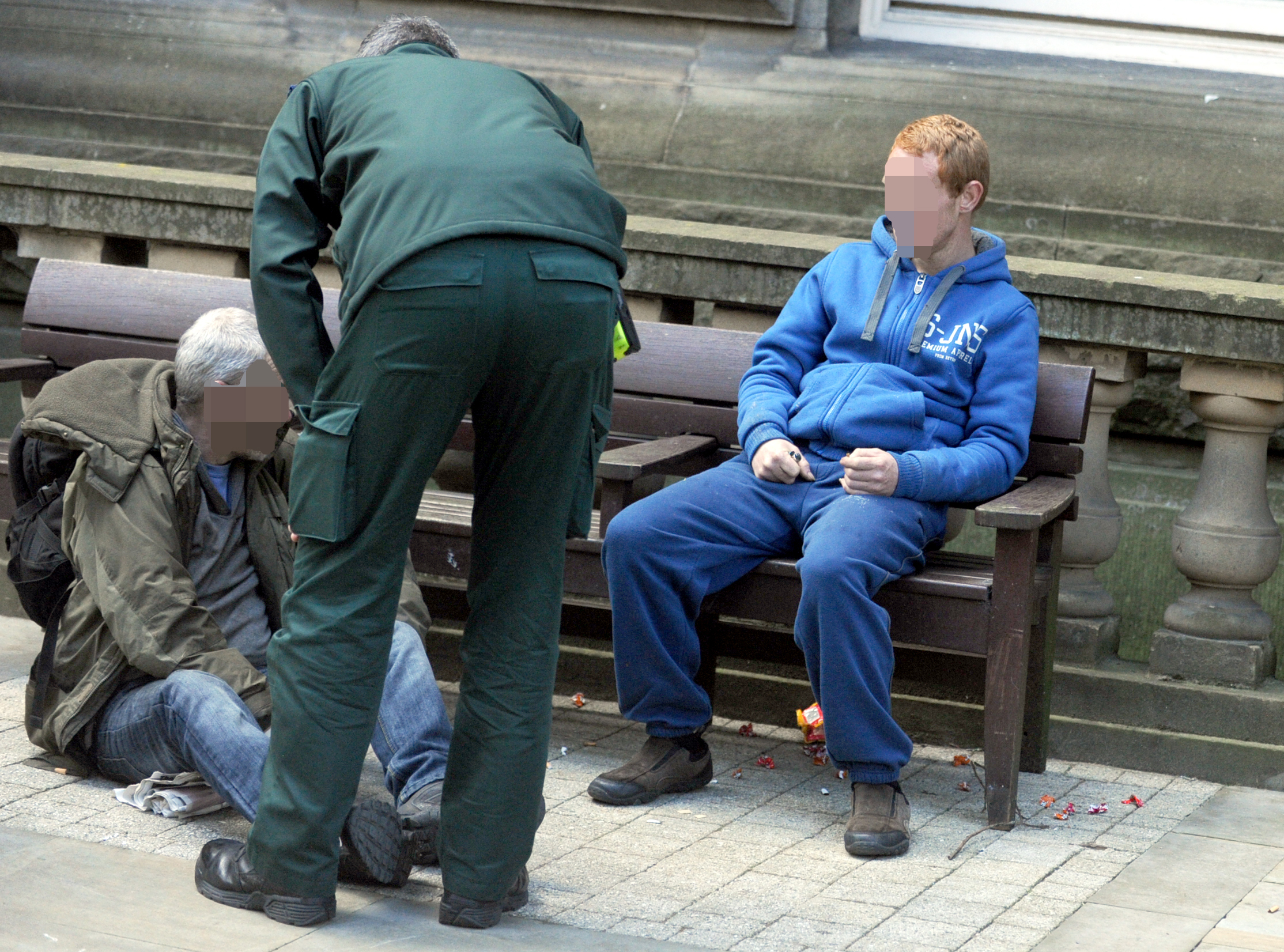 SUBSTANCE ABUSE: A Spice user collapsed outside Bolton Town Hall earlier this year