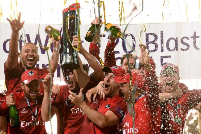 CELEBRATION: Lancashire were the Natwest T20 Blast champions in 2015