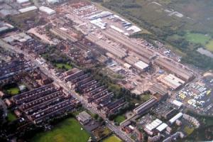 UNCERTAIN: An aerial shot of the former Horwich Loco Works site beside Chorley New Road