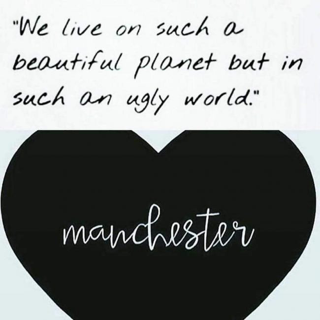 My thoughts & prayers go out to all those who have sadly lost their lives & for their family & friends & everyone else involved in last night's events! 😭💔 truly heartbreaking! Stay strong! #PrayForManchester #WeWontBeDefeated #TogetherAsOne 💙❤🙏💪
