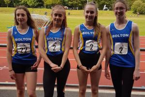 BLUE HEAVEN: Bolton United Harriers' juniors enjoyed great success in Blackburn