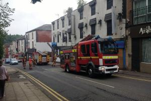 SCENE: Fire breaks out at former nightclub. Picture by Darren Greenshields
