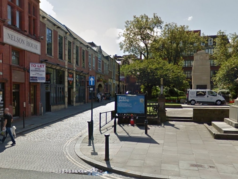 Nelson Square, Bolton. Credit: Google maps.