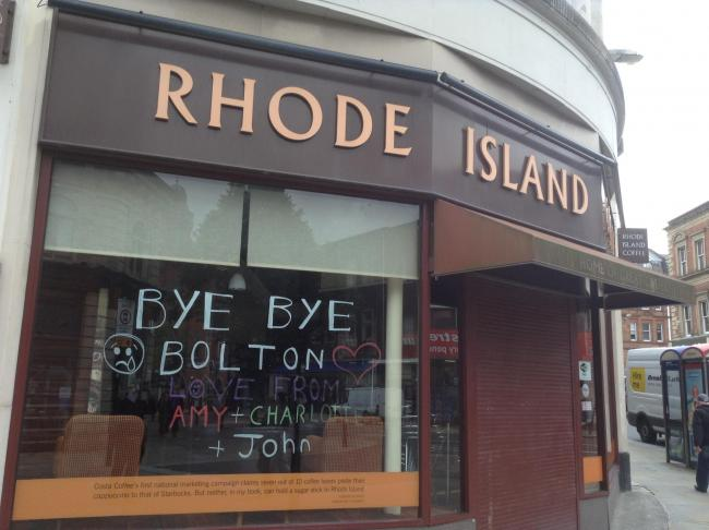 Sadness As Rhode Island Coffee In Knowsley Street Bolton Town Centre Closes Doors The Bolton News