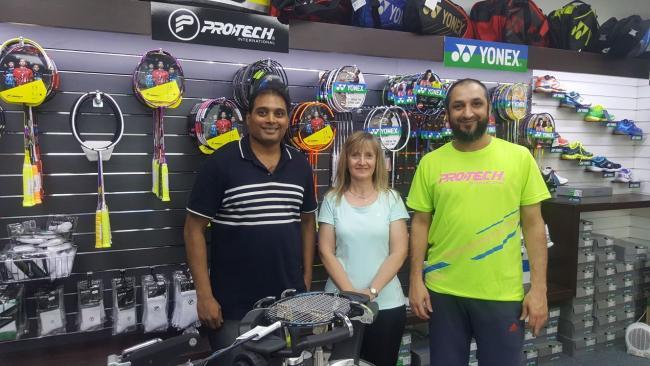 Bolton Dr Naren Kumar Vandanapu opens badminton shop at USN Bolton ... 2a713baf5b3a3