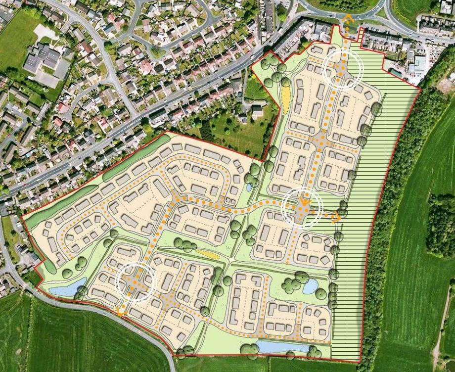 PLAN: Designs for the 300-home development in Lee Hall, Westhoughton