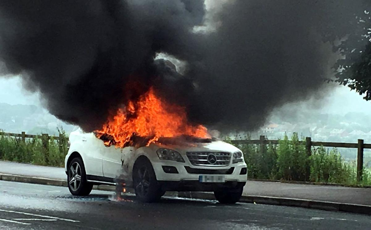 firefighters called to chorley old road to car fire this morning