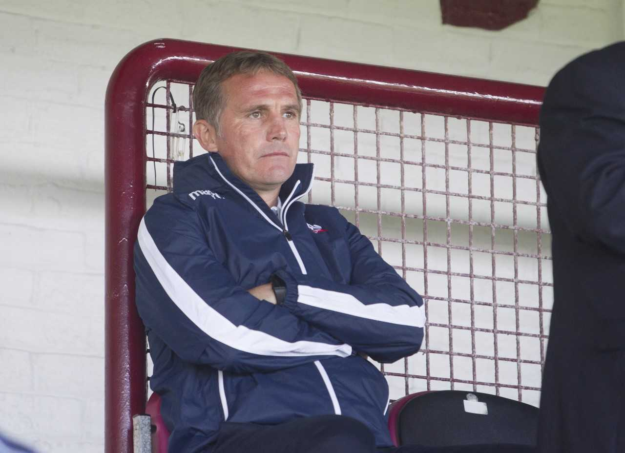 Phil Parkinson surveys Wanderers' friendly win against Arbroath from the stand