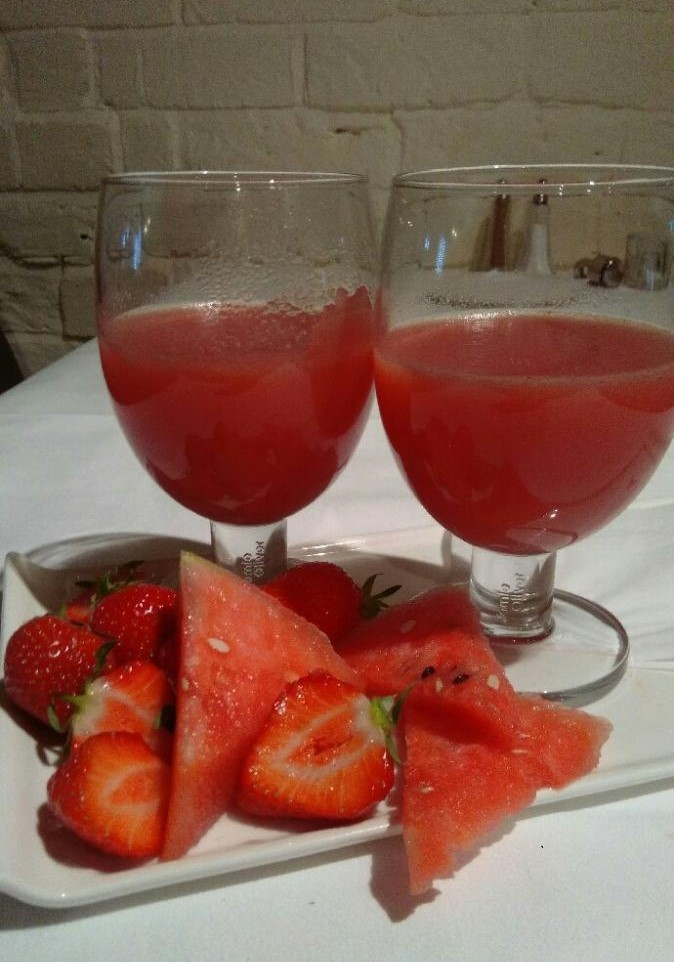 Watermelon and straberry jelly
