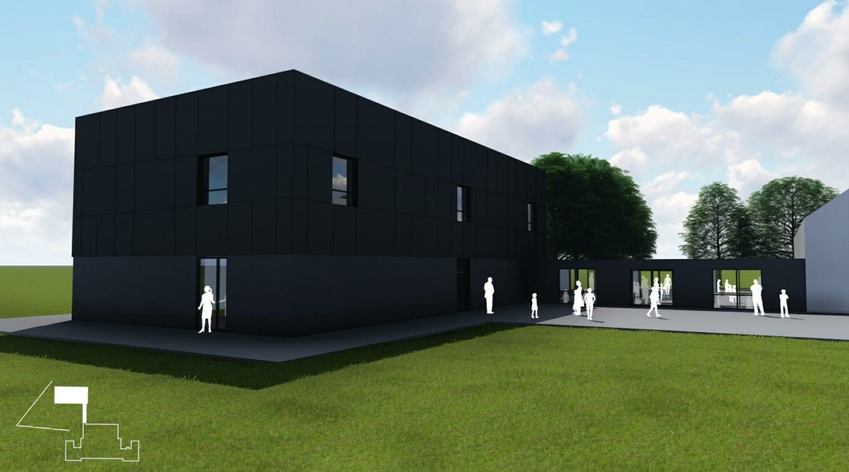 FUTURE: A CGI of the proposed extension at Blackrod Primary School Picture JM Architects