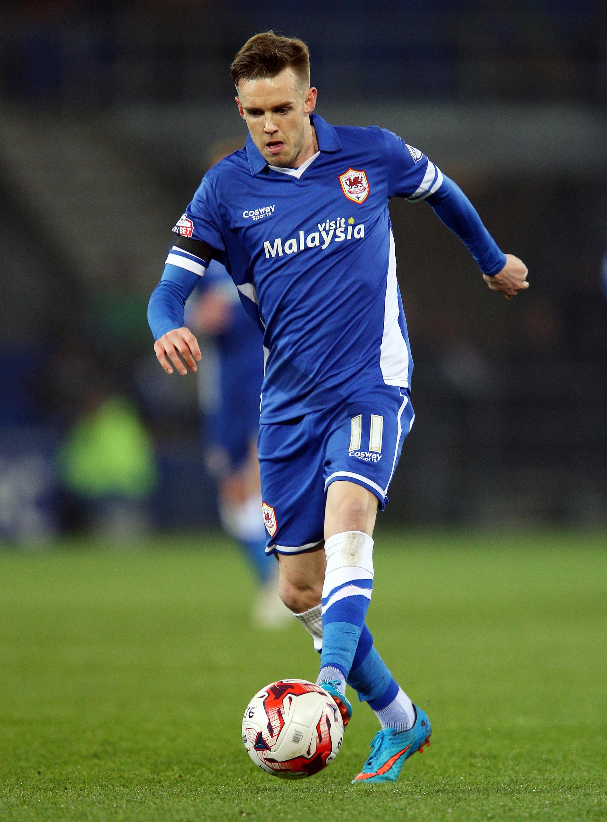 Craig Noone in action for Cardiff City last season