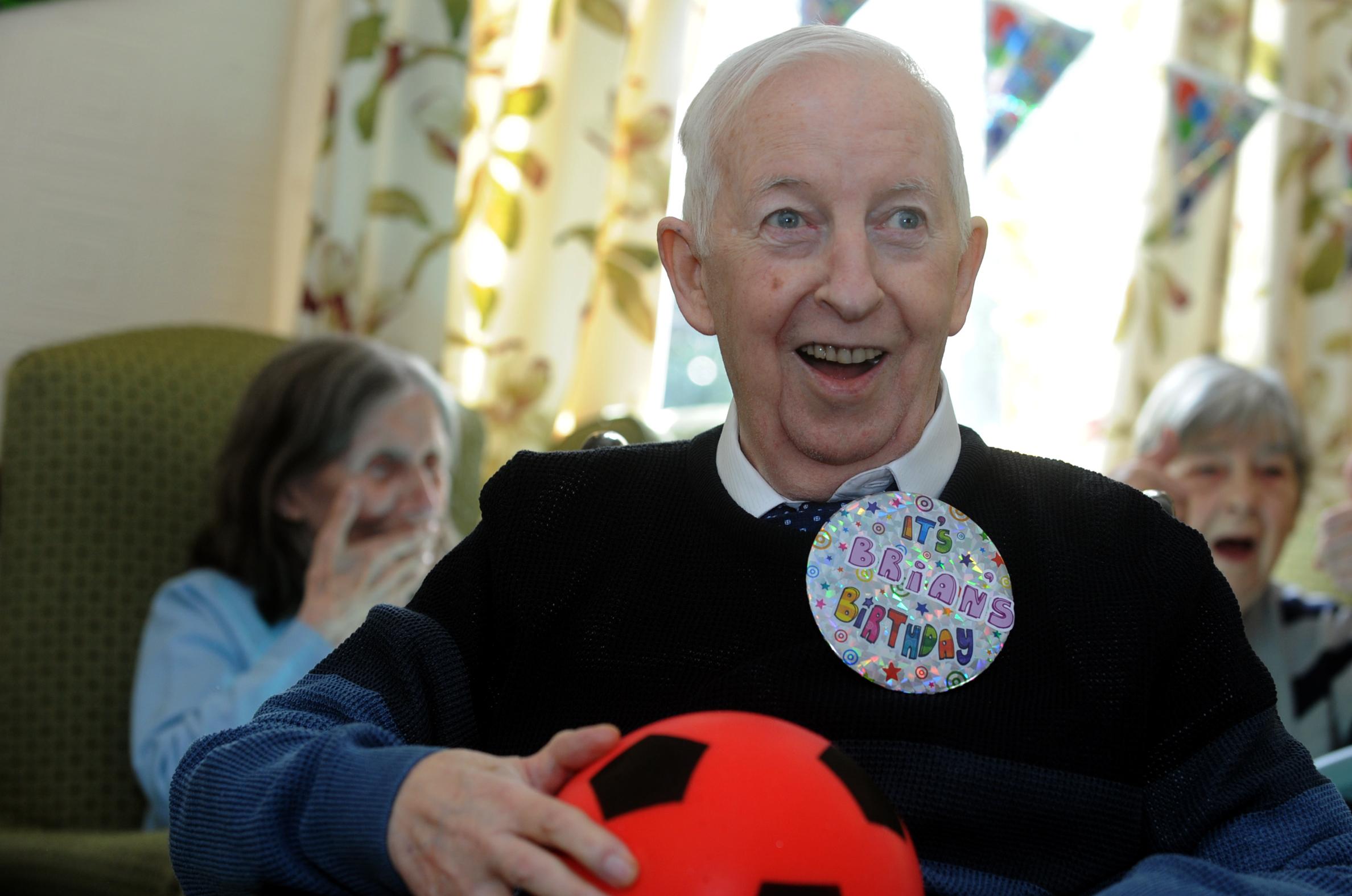 REMEMBERED: Former Bolton Wanderers footballer Brian Riley of Lever Park Care Home celebrating his 80th birthday