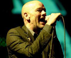 The Bolton News: REM's Michael Stipe at the Rose Bowl, Southampton. Picture: Allan Jones