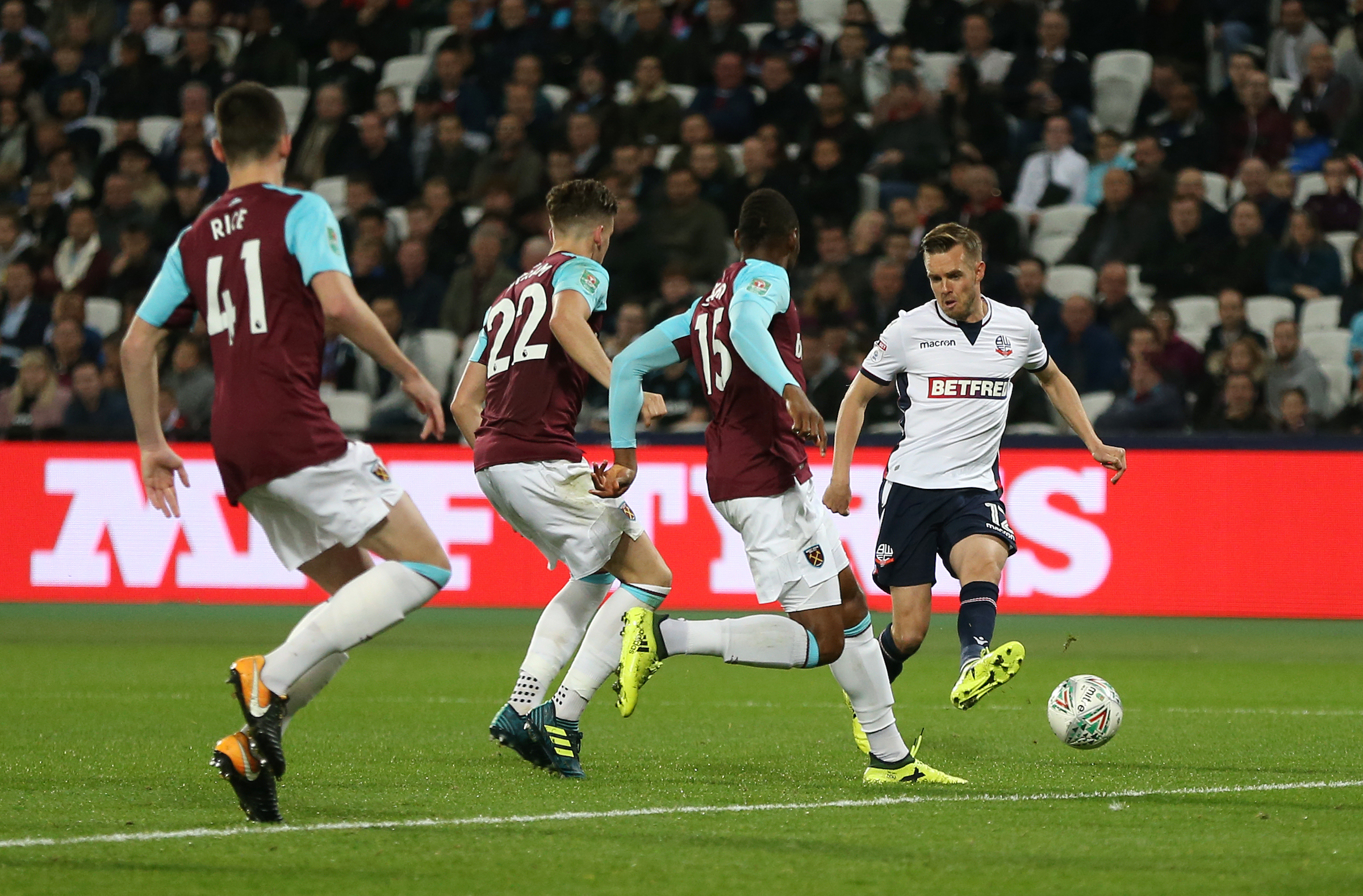 Wanderers found it tough going against West Ham on Tuesday night at the London Stadium