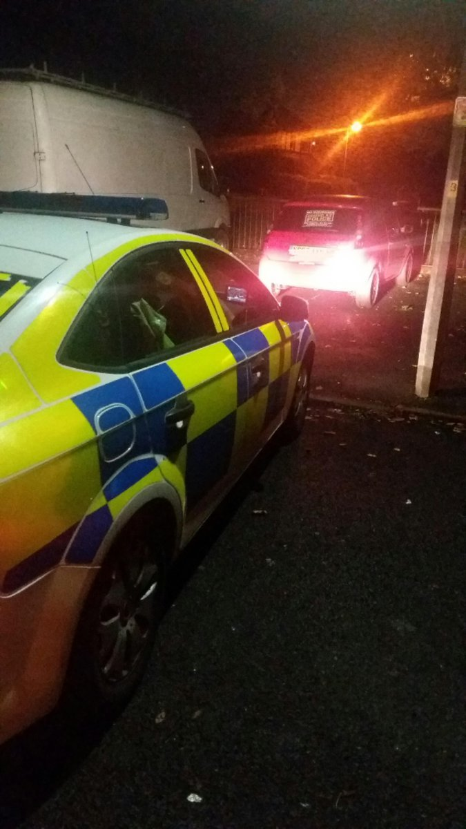 SEIZED: The car being seized. Picture from GMP Traffic/ Twitter