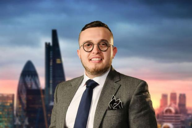 Charles Burns has made it through to the seventh episode of The Apprentice. Photo credit of the BBC.