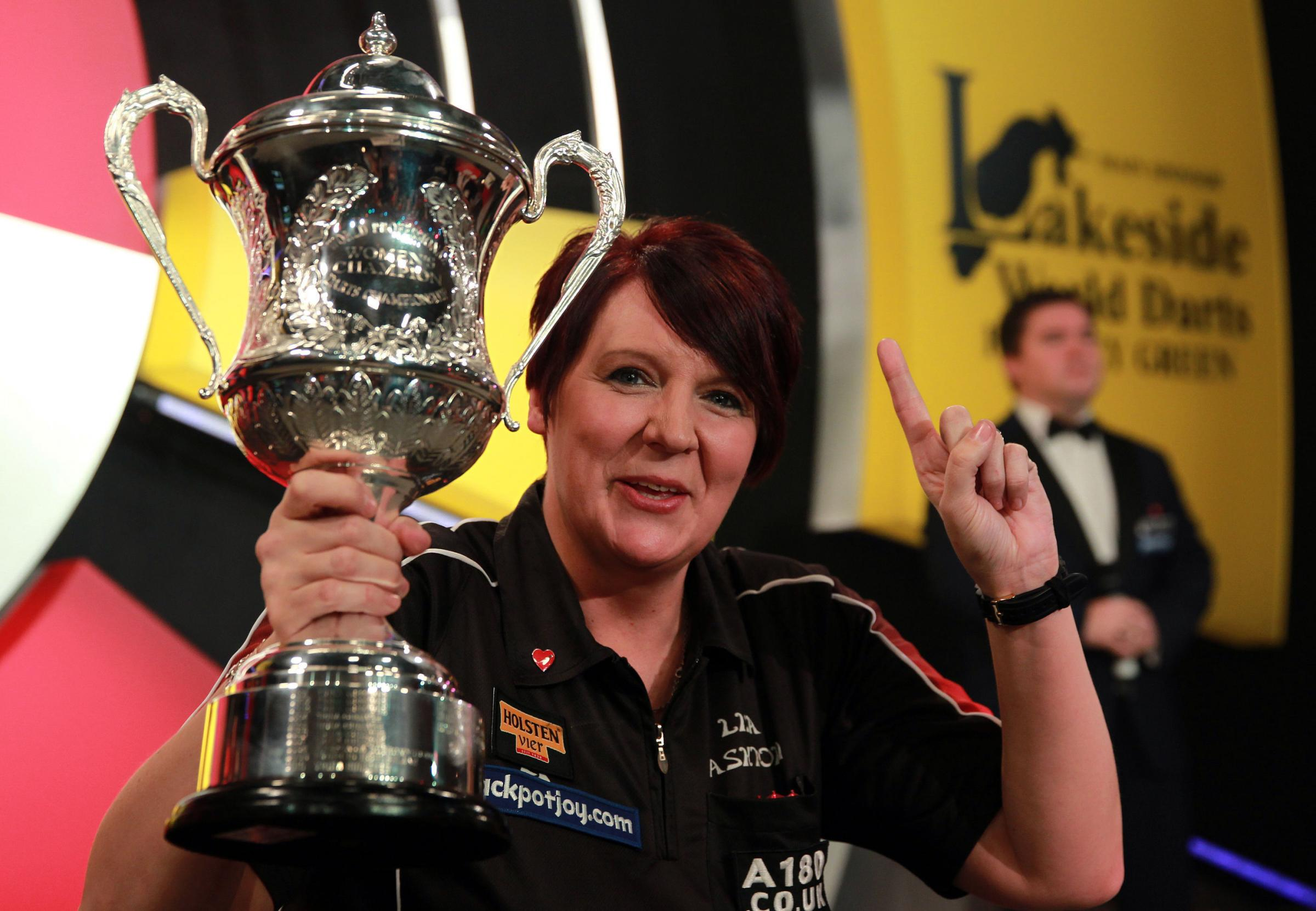 FOURTH TITLE: Champion Lisa Ashton has retained her BDO Ladies World Darts title