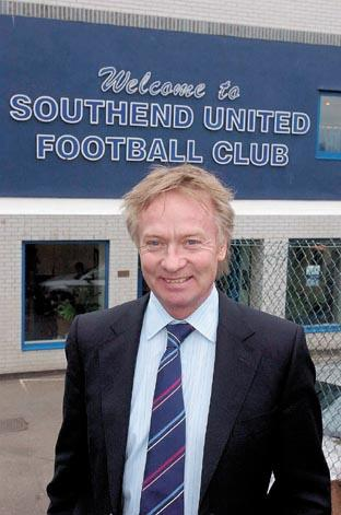 Southend United chief Ron Martin