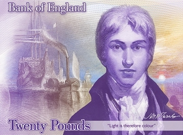 A concept design of the new £20 note. Photo: Bank of England