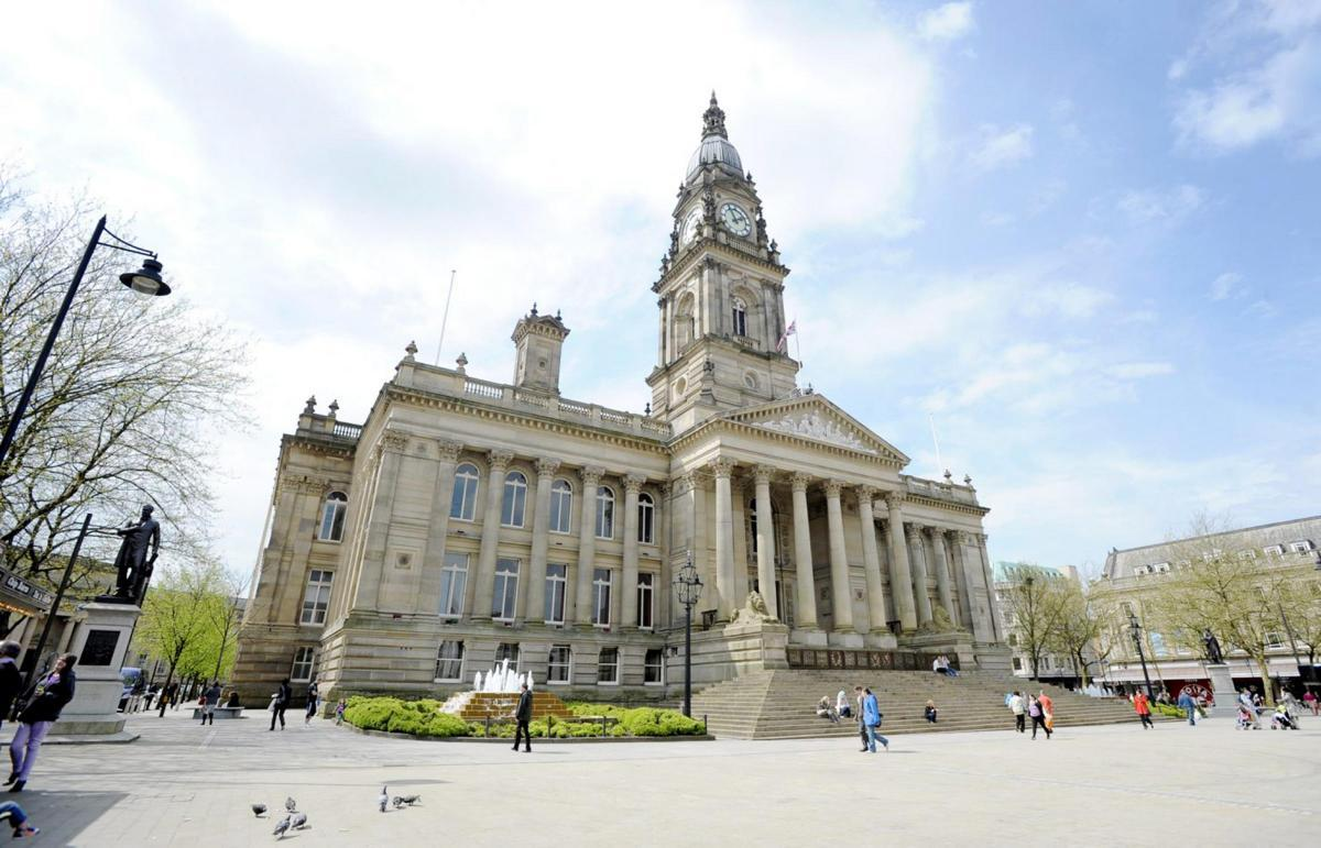 Bolton Town Hall in Victoria Square