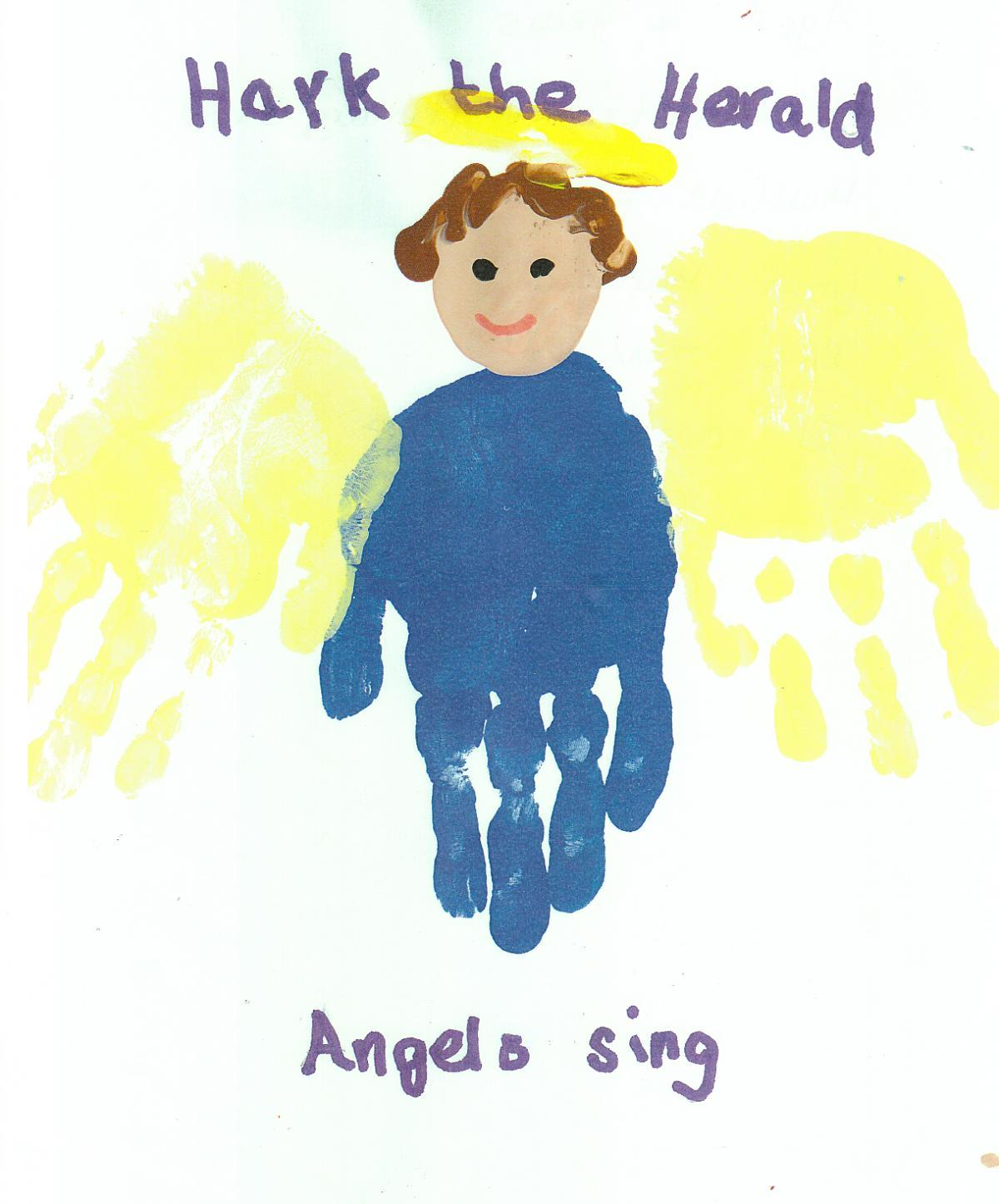 Four-year-old Poppy Dowling's entry for last year's Design a Christmas Card competition