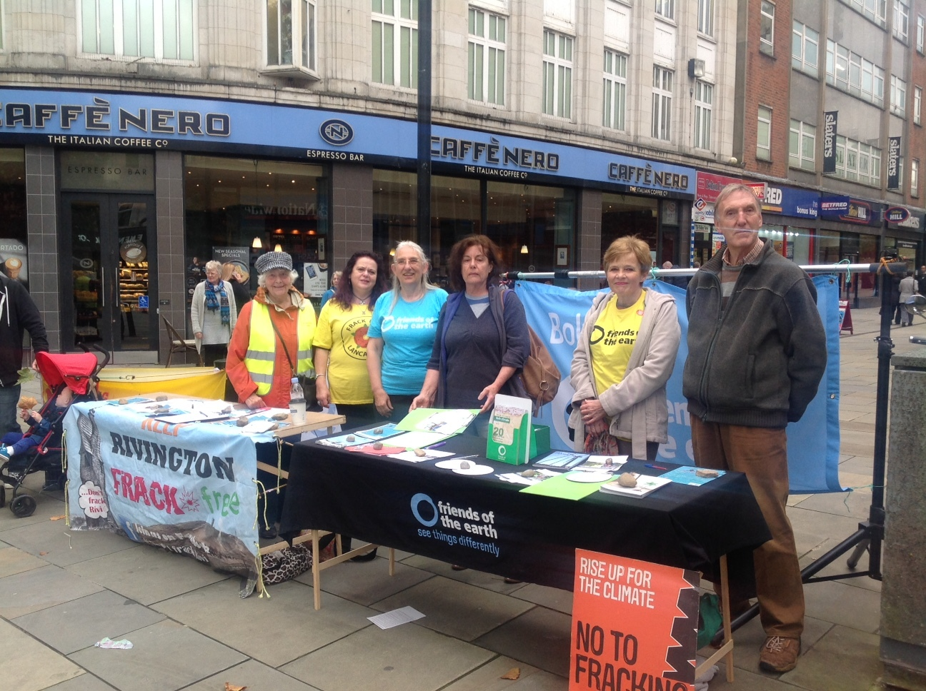 CAMPAIGN: Bolton Friends Of The Earth and Bolton Against Fracking set up a stall in Oxford Street, Bolton