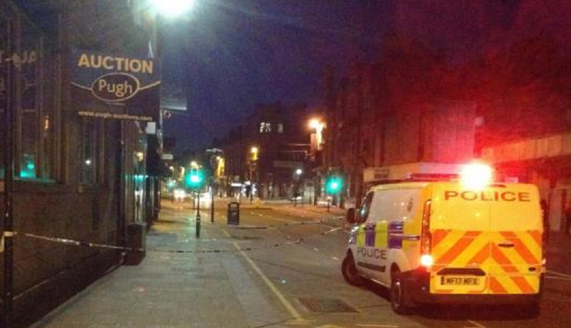 Police cordon in town centre - live updates