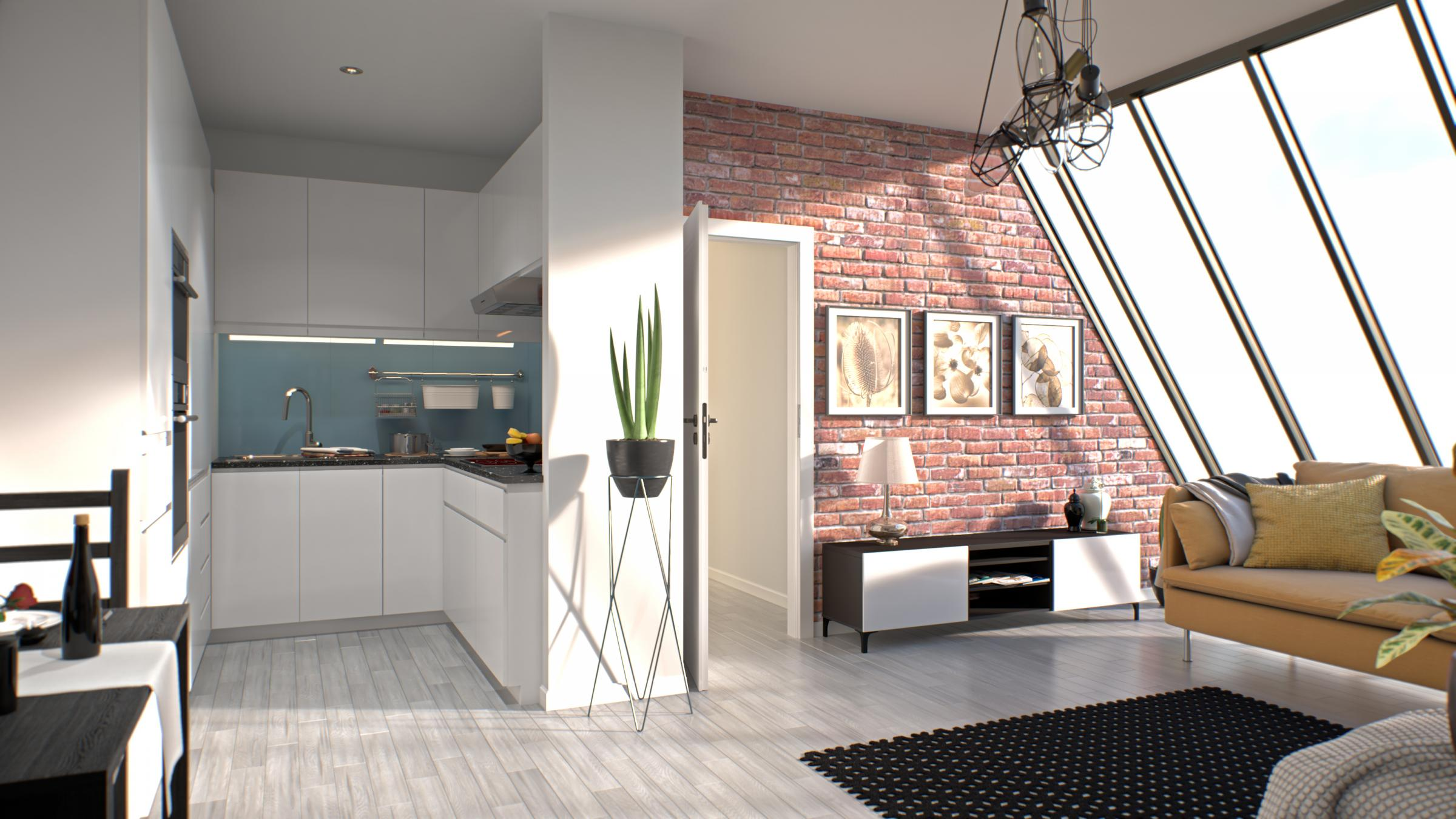 SMART: Concept design of a flat at the Globe Works mill