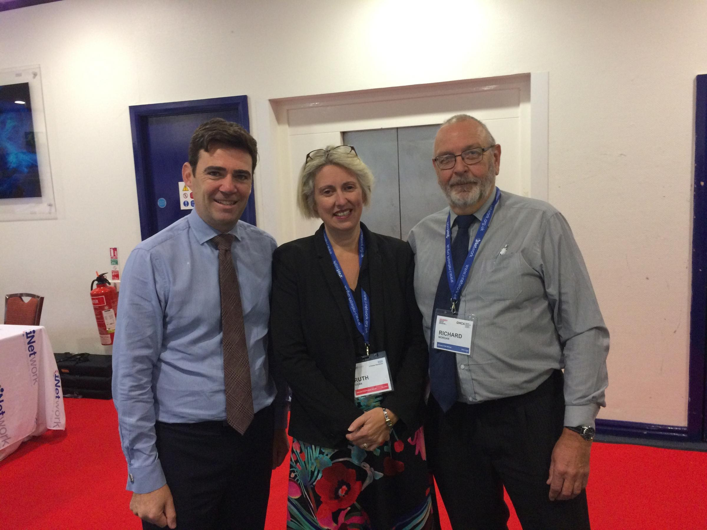 WORKING TOGETHER: Andy Burnham, Ruth Dean and Richard Morgan