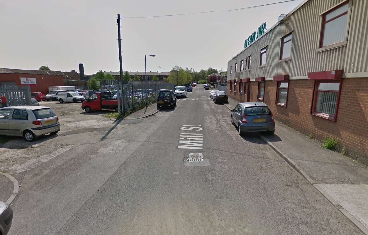 FIRE: A car was destroyed in a blaze in Mill Street, Farnworth Picture Google Maps