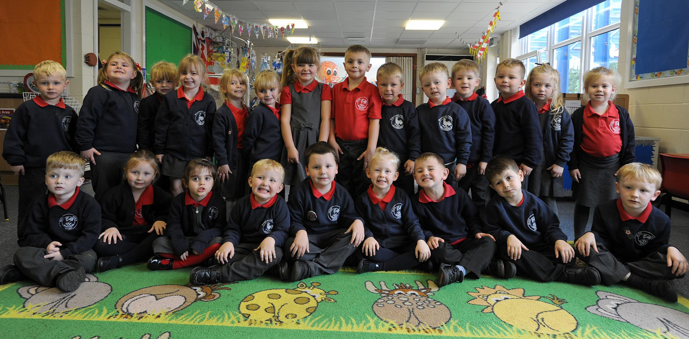 CLASS: Reception pupils at Masefield Primary School