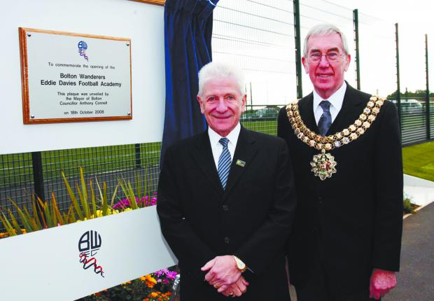 PROUD DAY: Eddie Davies and The Mayor of Bolton, Cllr Anthony Connell at the opening of Wanders' new football academy