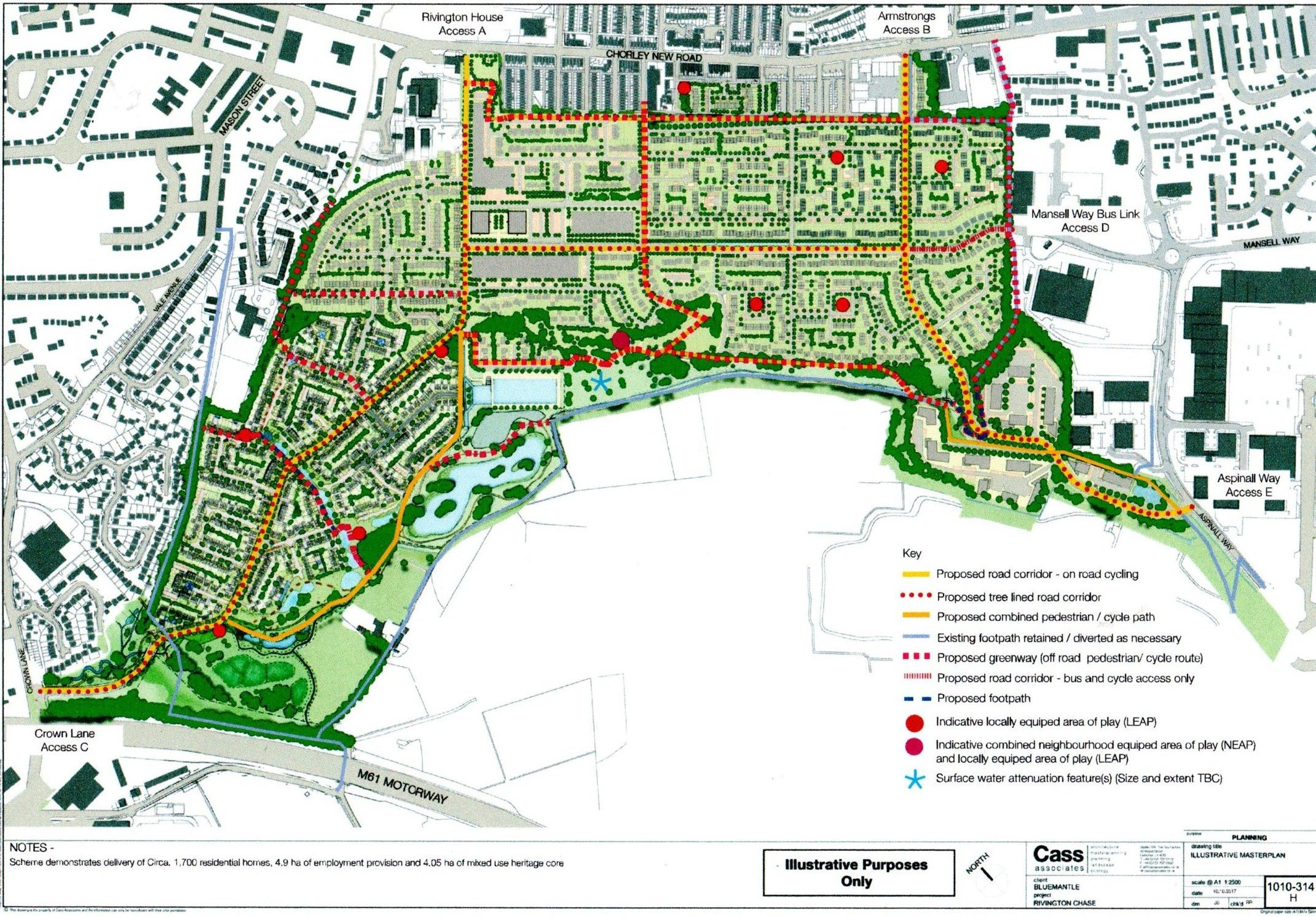 SITE: The masterplan for the £200million Rivington Chase development at the Horwich Loco Works