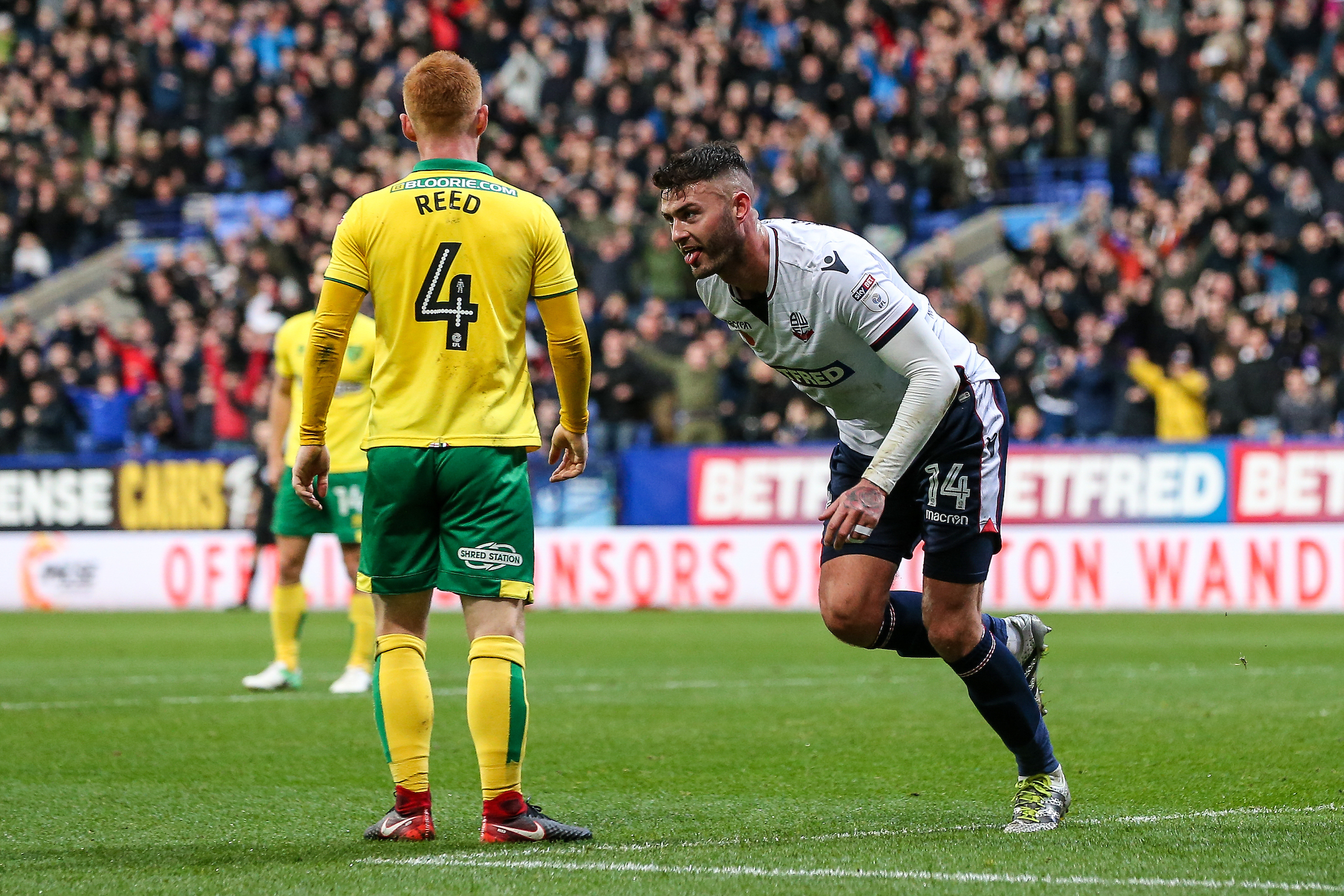 HOT POTATO: Gary Madine has scored twice and created three goals in his last two games for Wanderers