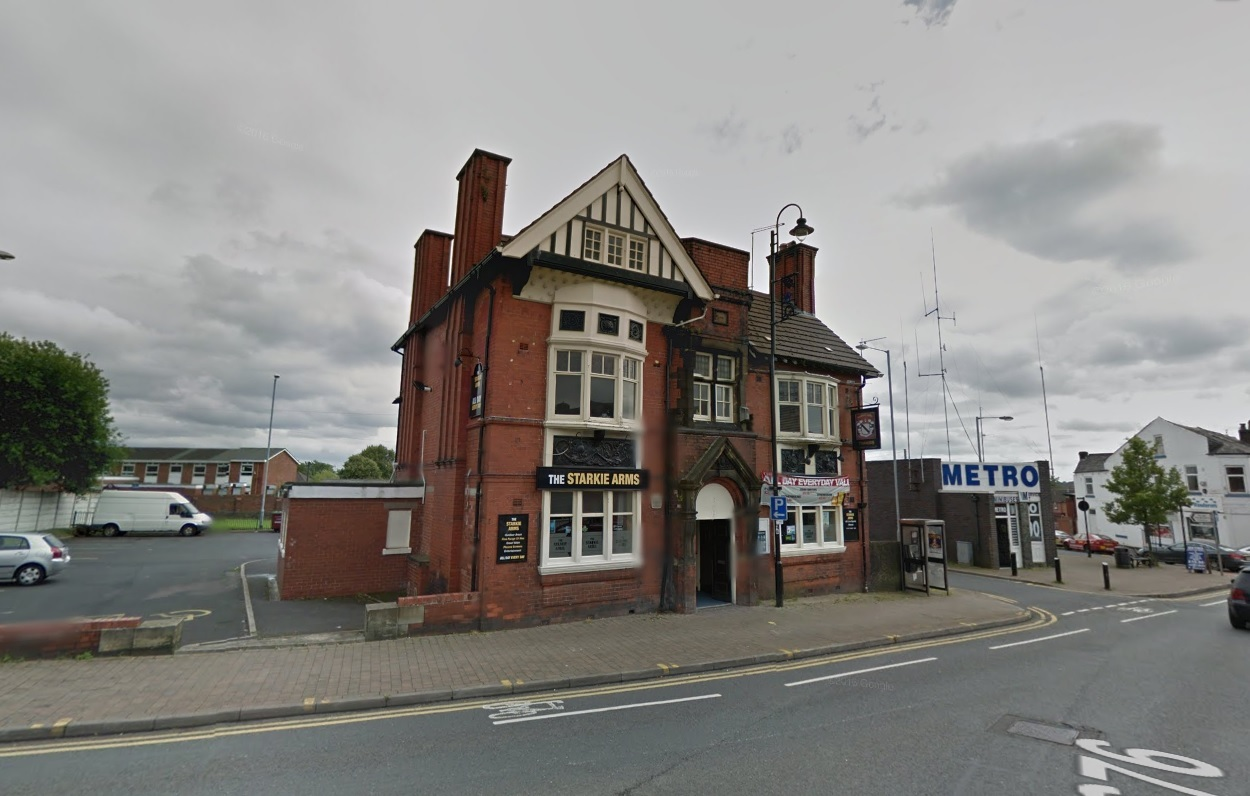 SOLD: The Starkie Arms in Tonge Moor Road, Bolton Picture Google Maps