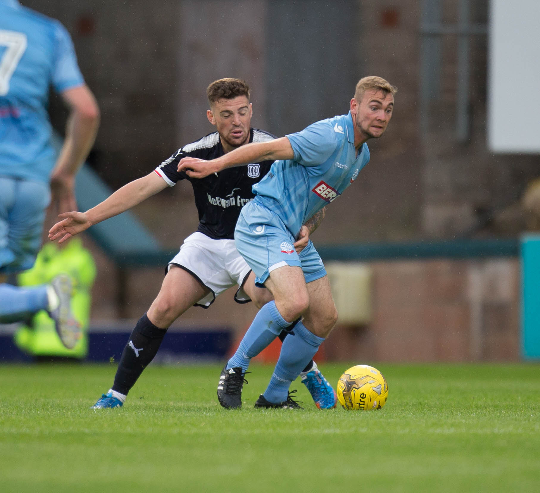 Wanderers striker Connor Hall in action against Dundee in pre-season