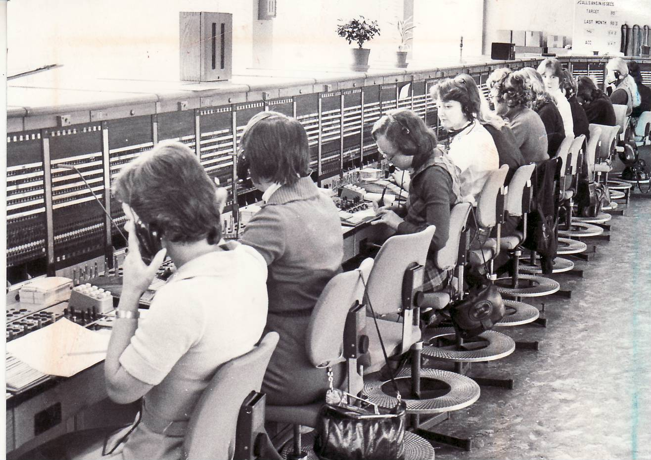 British Telecom phone exchange in Bolton in 1980