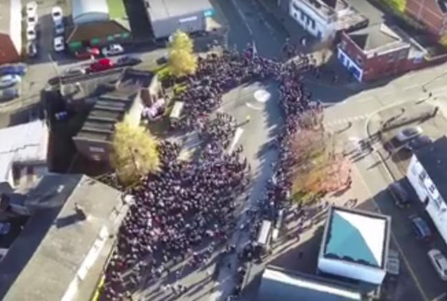 VIDEO: Drone shows numbers paying their respects in Little
