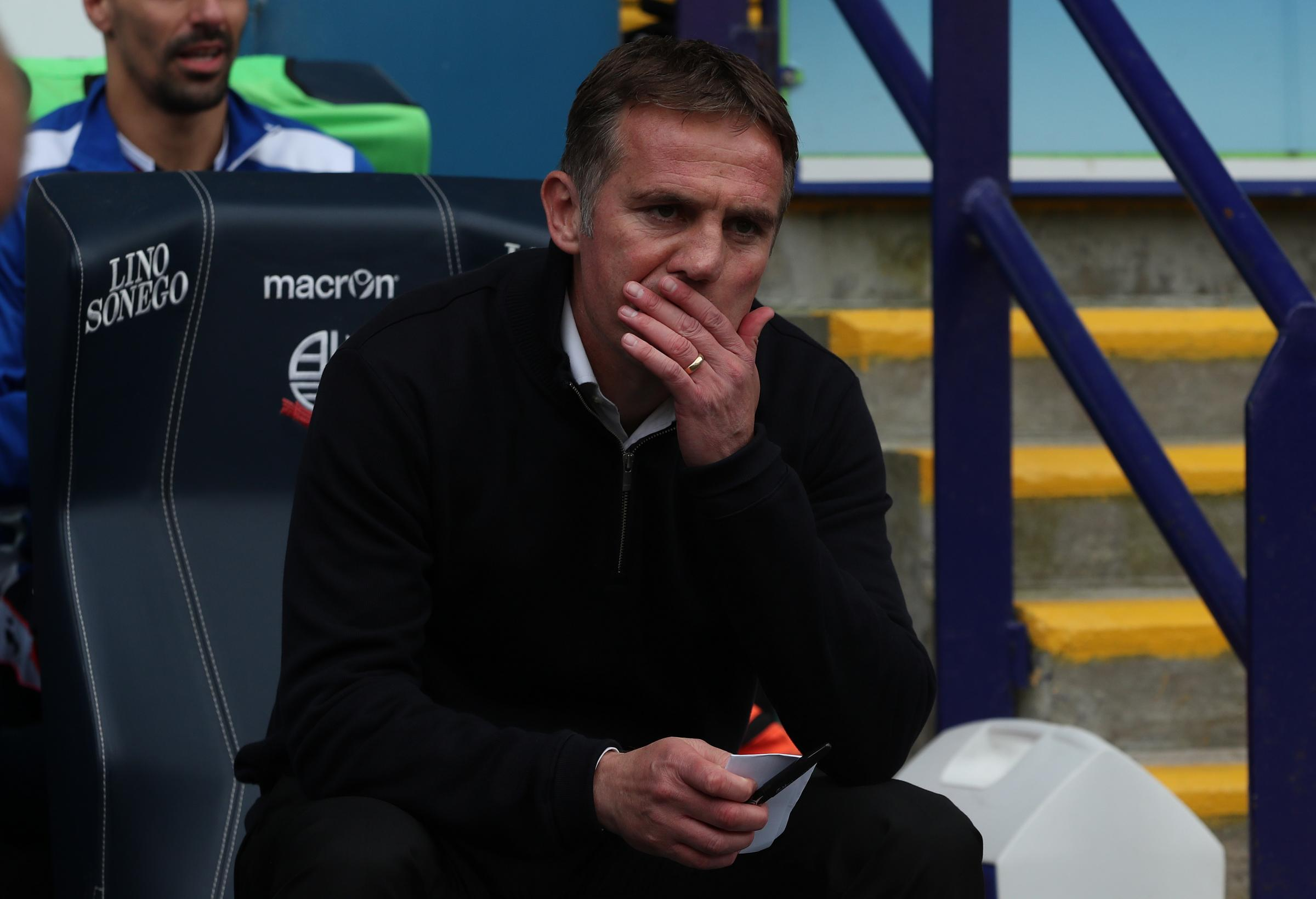 THINKING TIME: Phil Parkinson's best-laid plans have had to undergo an overhaul