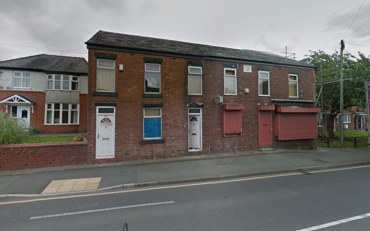 Plans have been revealed to convert a shop and two houses in Wigan Road, Westhoughton, into 12 apartments Picture Google Maps