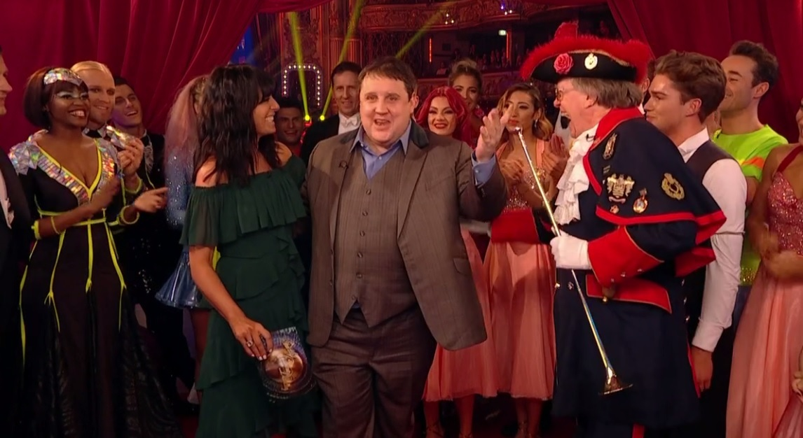 Peter Kay when he appeared on Strictly Come Dancing Picture BBC
