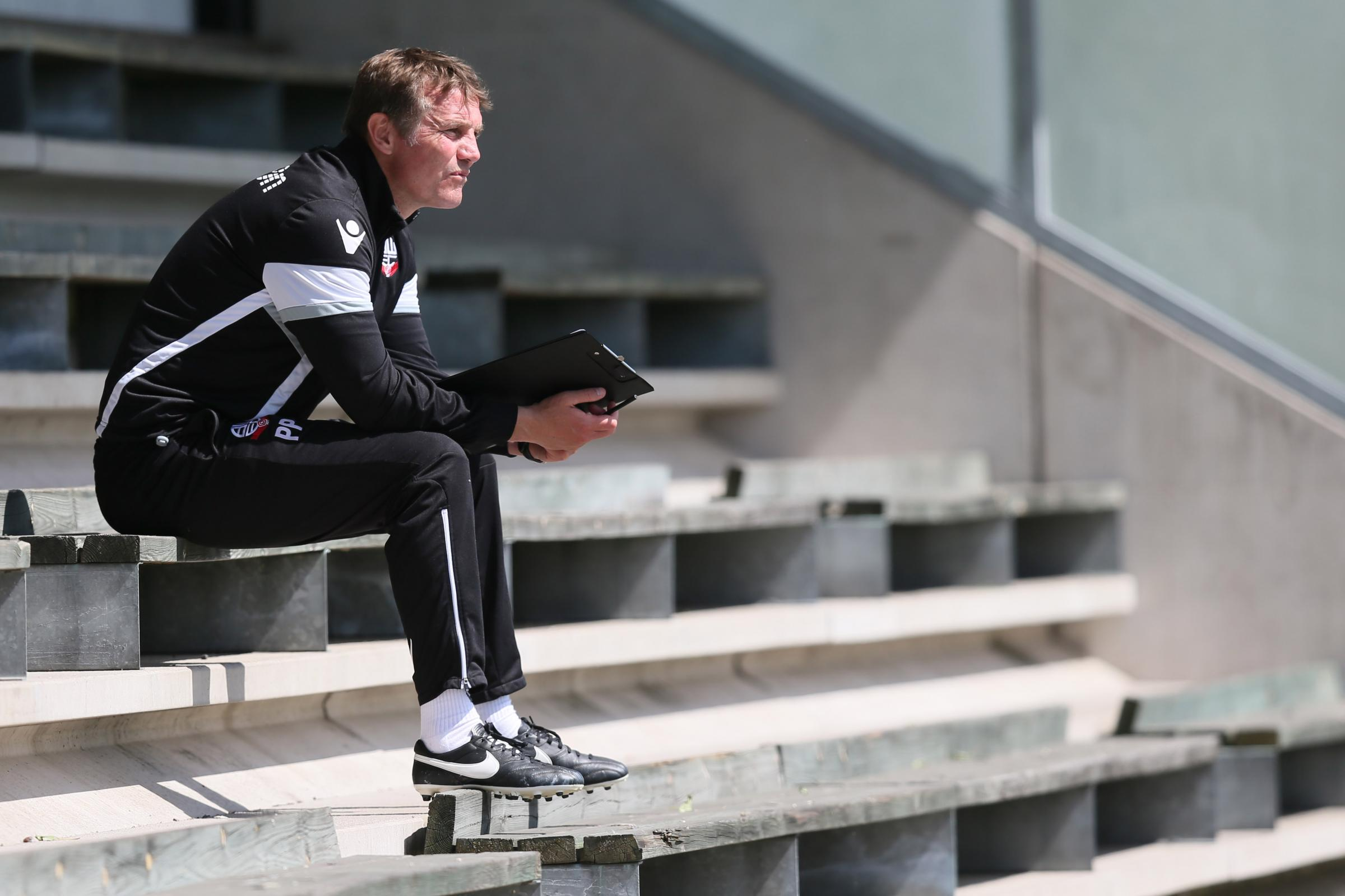 ALTERED ANGLE: Phil Parkinson may have to retreat to the stands in the near future