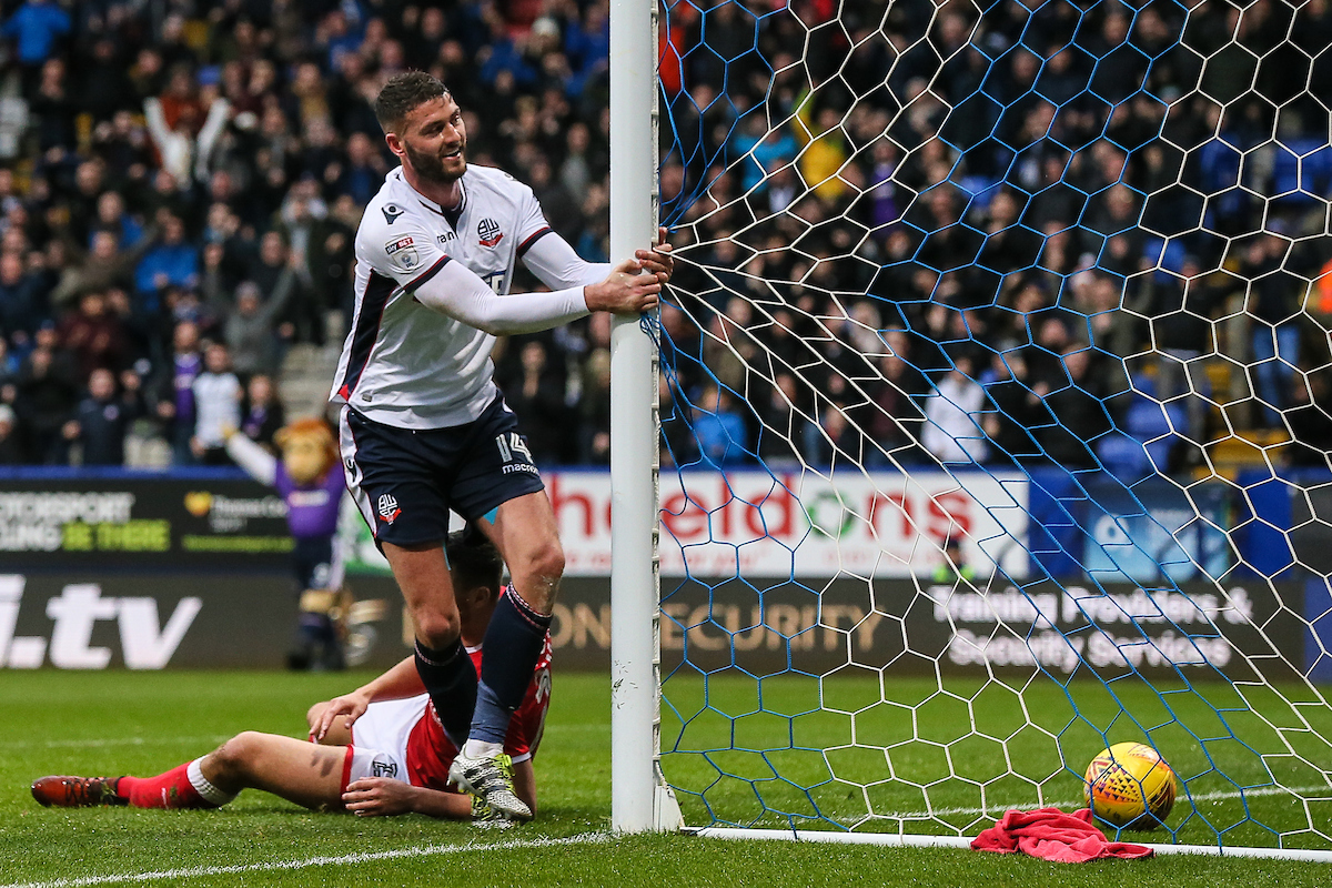 BACK OF THE NET: Gary Madine poaches a goal against Barnsley from the six yard box