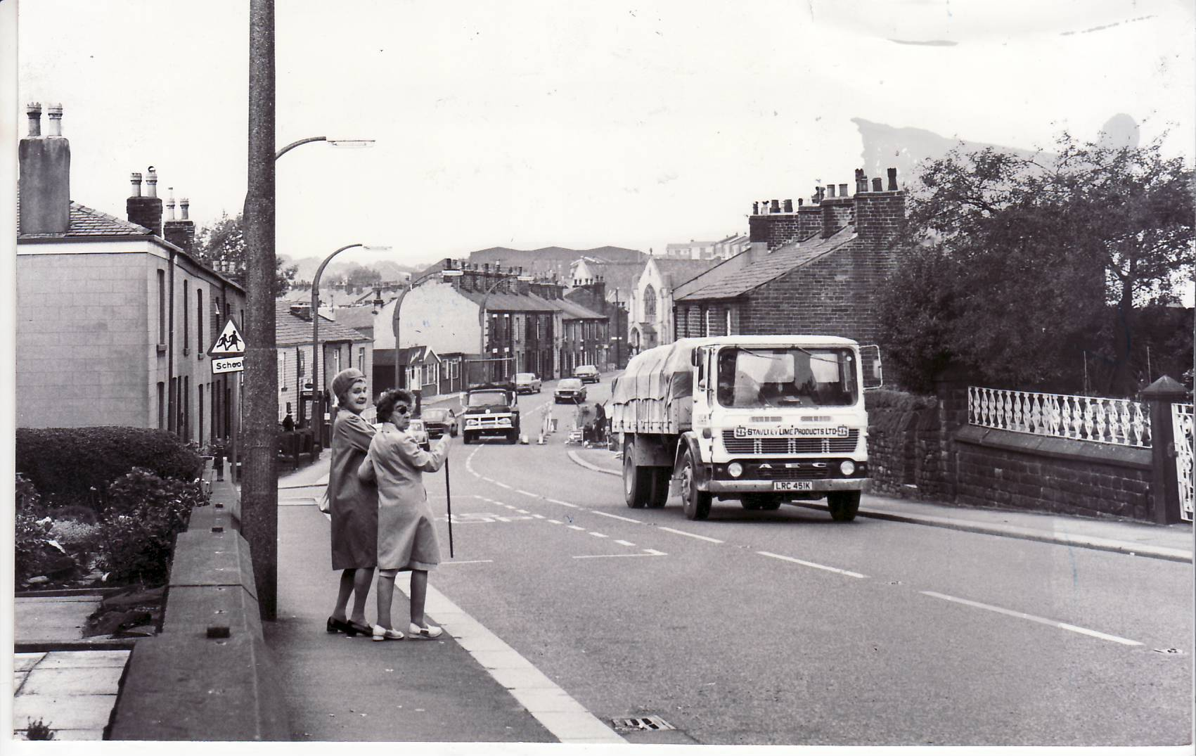 Darwen Road, Bromley Cross, in 1975