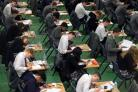 Students sitting their exams.